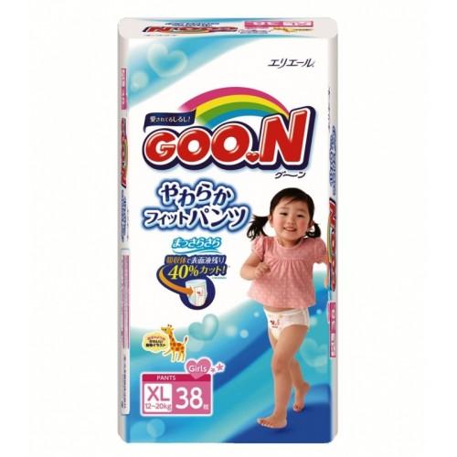 Трусики-Подгузники 12-20кг д/д (38 шт) XL 1/3 Goon (Гун) Япония