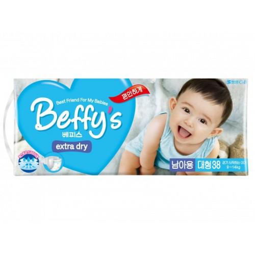 Extra dry подгузники для мальчиков размер L 9-14 кг./38 шт. Beffy's (Беффис)