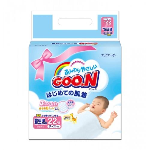 Подгузники 0-5кг мини пак(22шт)NB мягк.упак. 1/8 Goon (Гун) Япония