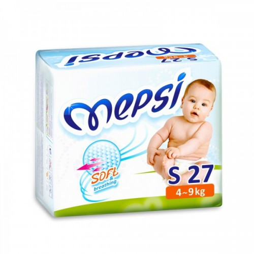 Подгузник детский S (4-9кг.) 27 шт. Mepsi (Мепси)