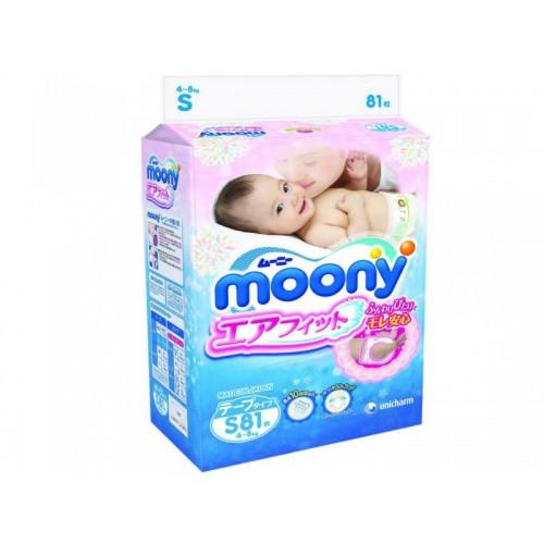 Подгузники S (4-8 кг), 81 шт Moony (Муни)