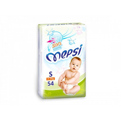 Подгузник детский S (4-9кг.) 54 шт. Mepsi (Мепси)