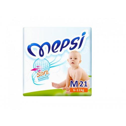 Подгузник детский М (6-11кг.) 21 шт. Mepsi (Мепси)