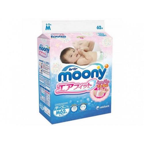 Подгузники М (6-11 кг), 62 шт Moony (Муни)