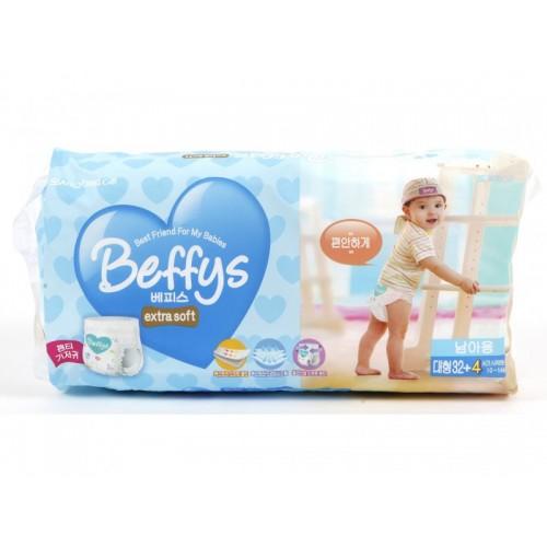 Extra soft трусики-подгузники для мальчиков размер L 10-14 кг./36 шт. Beffy's (Беффис)