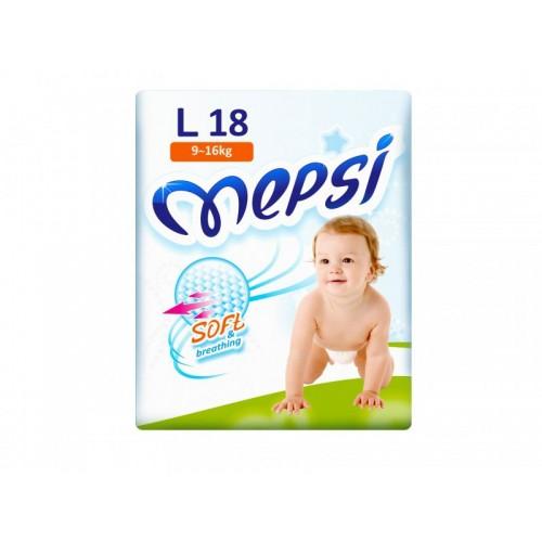 Подгузник детский L (9-16кг.) 18 шт. Mepsi (Мепси)