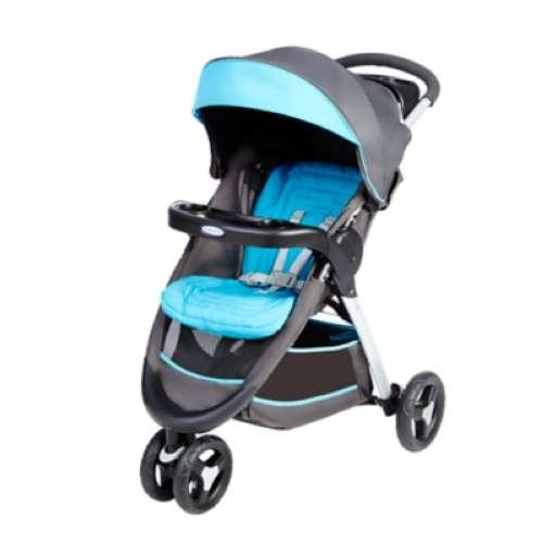 Прогулочная коляска Fastaction Fold серый-голубой Graco (Грако)