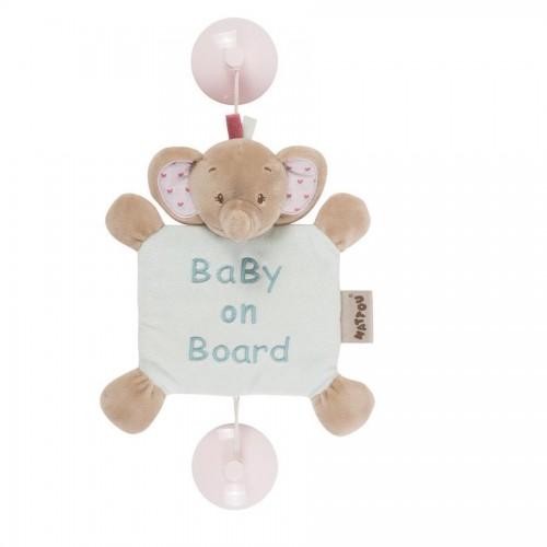 Знак автомобильный Baby on board Charlotte Rose Слоник 655354 Nattou
