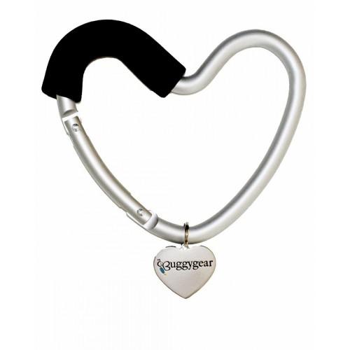 Крепление для сумок Buggygear Сердечко silver/black