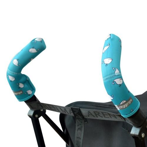 Чехлы Choopie Сити Грипс на ручки для коляски-трости 379/4103 aqua whale CityGrips