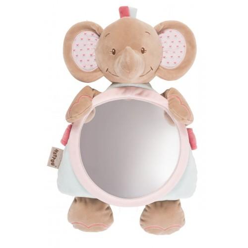 Зеркало для контроля за ребенком Mirror for car Charlotte Rose Слоник 655330 Nattou