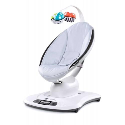 Электронное кресло-качалка Mamaroo 3.0 Вкладыш в подарок!(серебристый) 4Moms