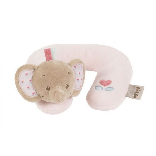Подушка-подголовник Neck pillow Charlotte Rose Слоник 655361 Nattou