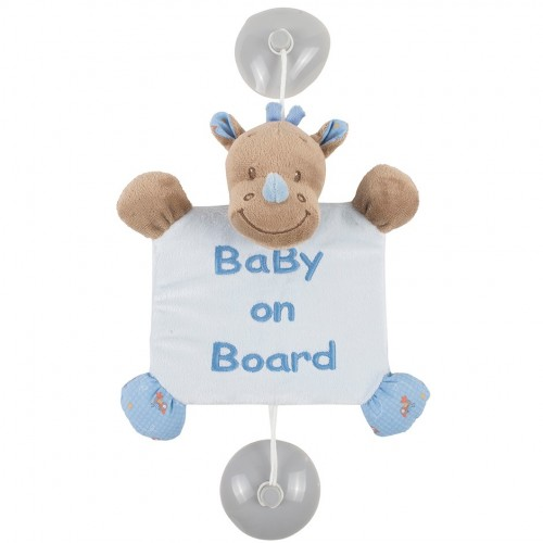 Знак автомобильный Baby on board Arthur Louis Носорог 644358 Nattou