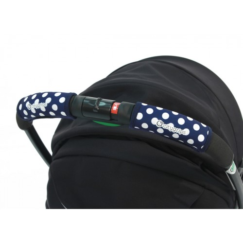 Чехлы Choopie Сити Грипс на ручку для универсальной коляски 368/4233 polka-dot navy CityGrips