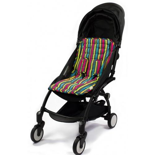 Матрасик Choopie (Чупай) для коляски с чехлами на ремни CityLiner 575/5501 Broadway Stripes CityGrips
