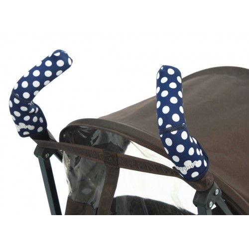 Чехлы Choopie Сити Грипс на ручки для коляски-трости 367/4226 polka-dot navy CityGrips