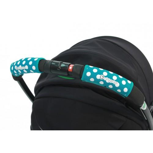 Чехлы Choopie Сити Грипс на ручку для универсальной коляски 370/4219 polka-dot aqua CityGrips