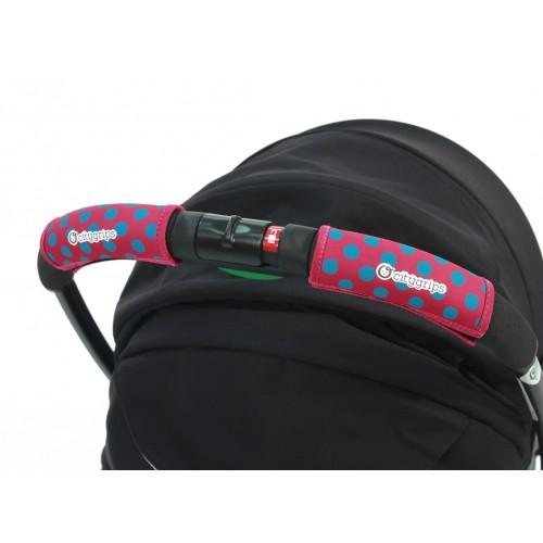 Чехлы Choopie Сити Грипс на ручку для универсальной коляски 372/4196 polka-dot pink CityGrips