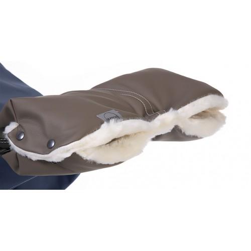 Муфта для рук 2015(Grey Leatherette коричневая кожа с пепельным оттенком) Teutonia