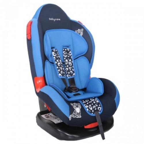 Автокресло Baby Care Леопардик Люкс (синий)