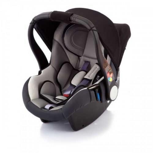 Автолюлька Baby Care Diadem (черно-серое)