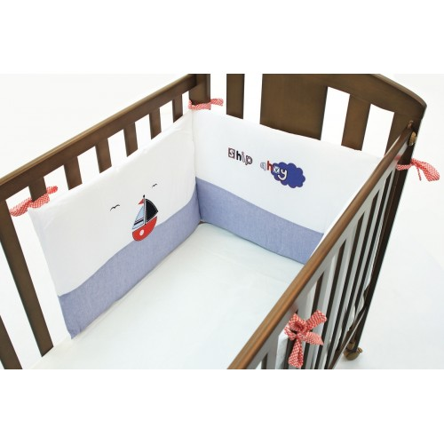 Бортик Marine (Фаннабэби Марин) короткий для кровати 120*60 см Funnababy