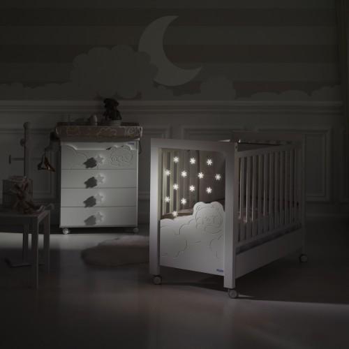 Кровать 120x60 Dolce Luce Relax со светодиодной подсветкой(Berliner Grey/White) Micuna (Микуна)