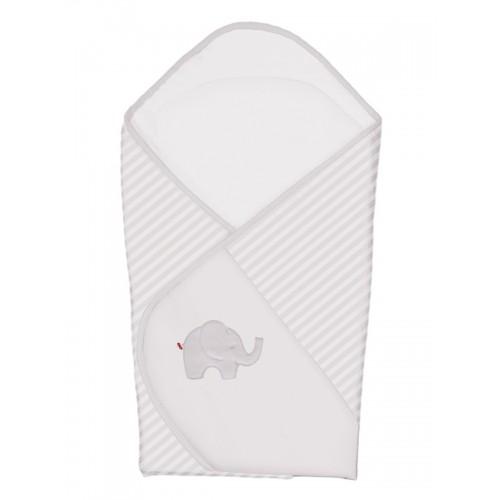 Одеяло-конверт (W-810-057-260 Elephant Grey вышивка) Ceba Baby