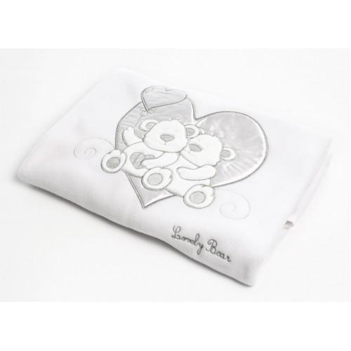 Покрывало Lovely Bear (Фиореллино Лавли Бир) флисовое 75*110см белый Fiorellino