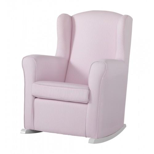 Кресло-качалка Wing White(Цвет обивки: Pink Striped) Micuna (Микуна)