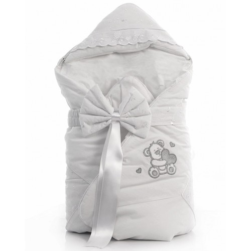 Одеяло-конверт Lovely Bear (Фаннабэби Лавли Бир) 88*88см белый Funnababy