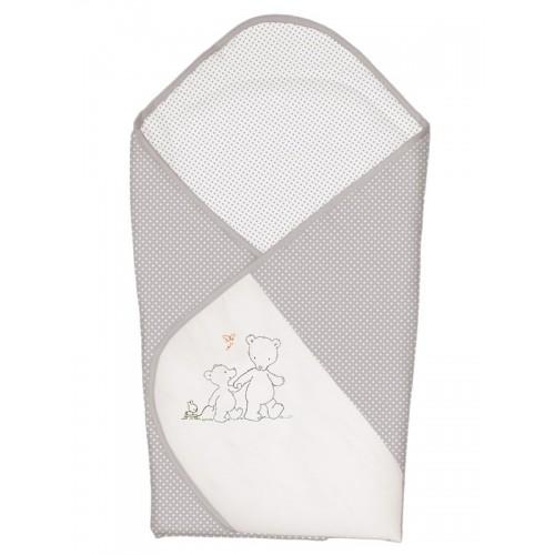 Одеяло-конверт (W-810-004-260 Papa Bear Grey вышивка) Ceba Baby