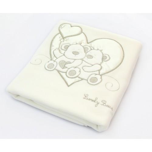 Покрывало Lovely Bear (Фиореллино Лавли Бир) флисовое 75*110см крем Fiorellino