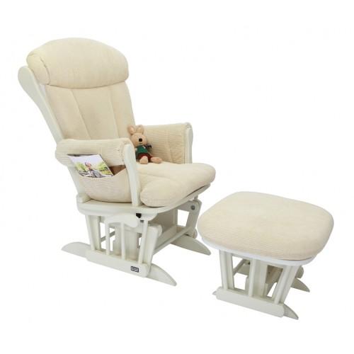 Кресло-качалка для кормления Rose GC75(White/Cream) Tutti Bambini