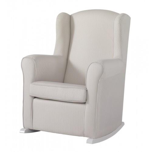 Кресло-качалка Wing White(Цвет обивки: Beige Striped) Micuna (Микуна)
