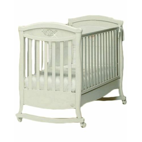 Кровать Principessa Cristallo (Бамболина Принципесса Кристалло) 125*65 белый Bambolina