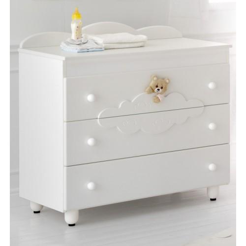 Комод большой (3) Abbracci-Trudi белый Baby Expert