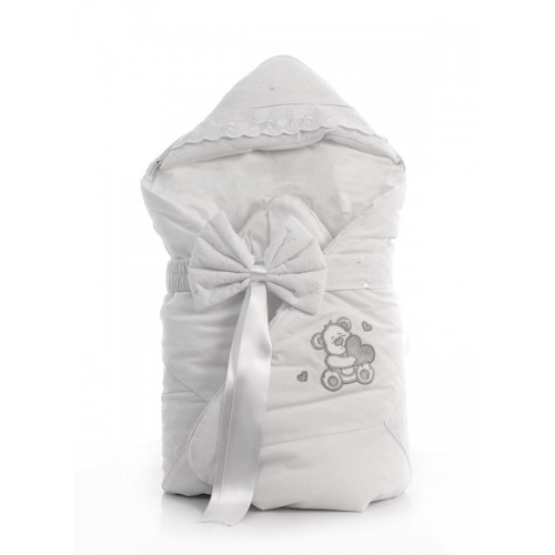 Одеяло-конверт Lovely Bear (Фиореллино Лавли Бир) 88*88см белый Fiorellino