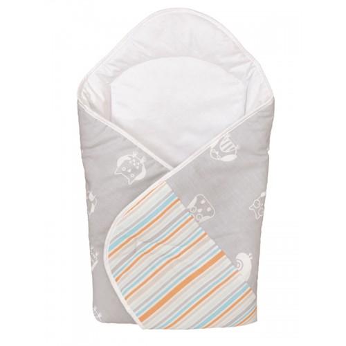 Одеяло-конверт (W-810-044-260 Owls Grey принт) Ceba Baby