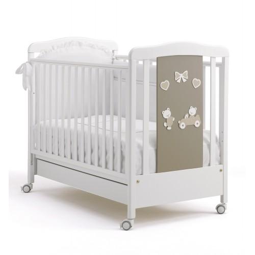 Кровать 125x65 Amore(White/Grey) BV&BV