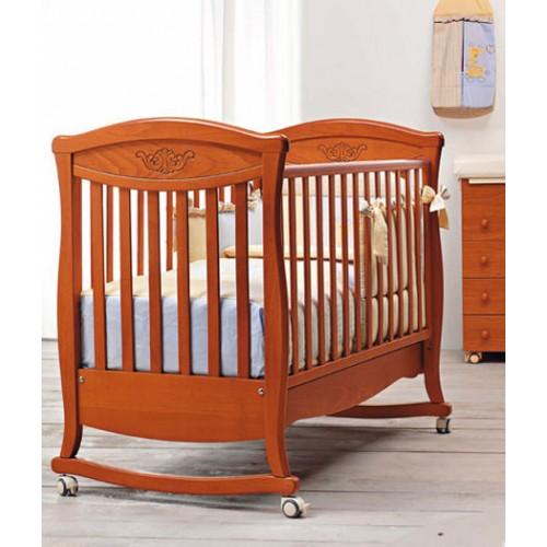Кровать 125x65 Principessa Classic(Вишня) Бамболина Bambolina