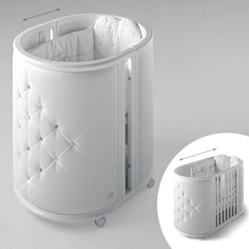 Колыбель-кровать Perla(Белый) Бамболина Bambolina
