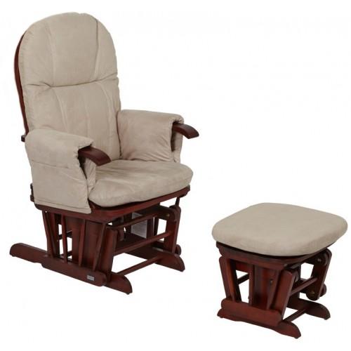 Кресло-качалка для кормления GC35(Walnut/cream) Tutti Bambini