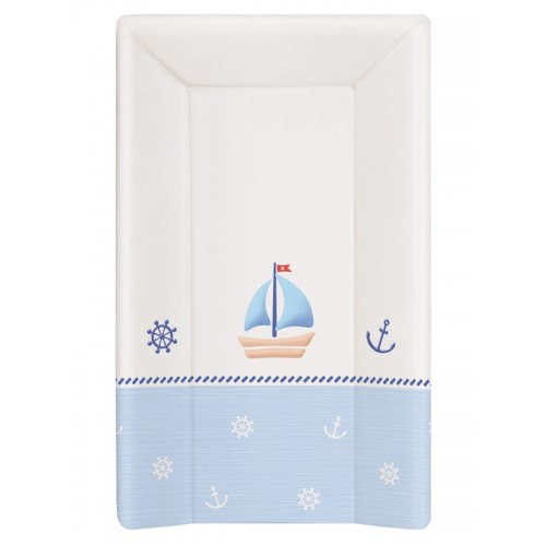 Пеленальный матрац 70 см мягкий с изголовьем(W-103-010-009 Marine White/Blue) Ceba Baby