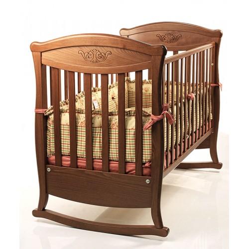 Кровать 125x65 Principessa Classic(Орех) Бамболина Bambolina