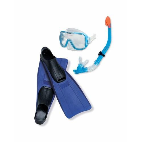 Плавательный набормаска,трубка,ласты спорт, размер ласт 41-45, от 8лет Intex (Интекс)