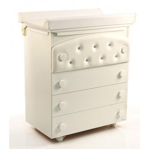 Комод Firenze / Divina Luxe Cristallo(Белый) Бамболина Bambolina