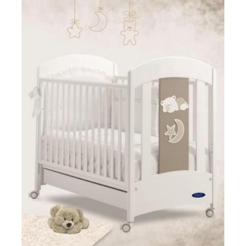 Кровать 125x65 Pura(White/Grey) BV&BV