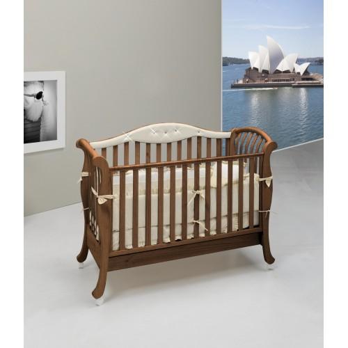 Кровать Divina Glamour Cristallo (Бамболина Дивина Гламур Кристалло) 125*65см орех Bambolina